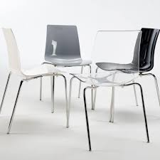 Polycarbonate Chairs Stackable Chair Without Armrests Made With Polycarbonate Chromed