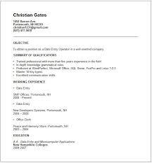 data entry sample resume data entry resume example