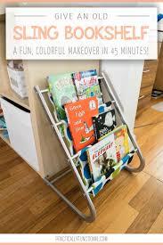 Fabric Sling Bookshelf This Old Kids Sling Bookshelf Got A Colorful Makeover