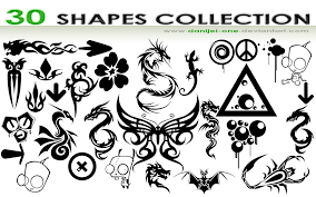 2500 free custom photoshop shapes inspirationfeed