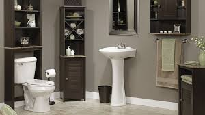 dark bathroom ideas bathroom freestanding sink vanity with dark bathroom etagere and
