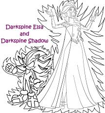 darkspine coloring pages elsa shadow deviantart