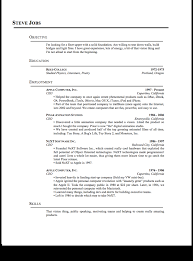 Standard Resume Format Sample by Standard Resume Examples