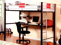 Loft Bed With Desk And Futon Study Bunk Bed Frame With Futon Chair Blue Storage Loft Bed With