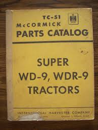 ih farmall mccormick international super wd9 super wdr9 parts
