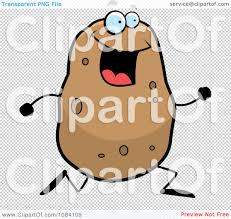 Couch Potato Clipart Clipart Running Potato Character Royalty Free Vector