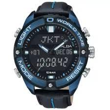 Jam Tangan Alba Pria alba analog digital jam tangan pria hitam kombinasi biru navy