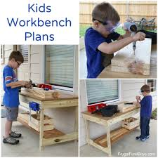 Boys Wooden Tool Bench Kids U0027 Workbench Plans Build Your Own Kids U0027 Woodworking Space