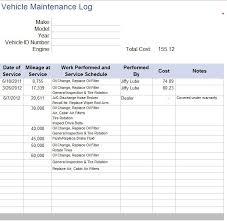 Truck Maintenance Spreadsheet by Maintenance Log Template Organizational Maintenance Printable