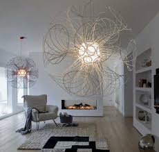 Unique Pendant Light Unique Sculptural Pendant L Made Of Metal Coil Vita L
