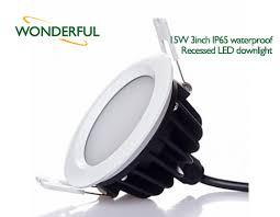 Waterproof Bathroom Light 15w 3inch Ip65 Waterproof Recessed Led Downlight L