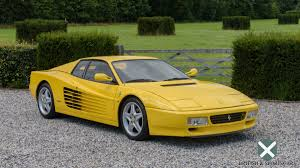 ferrari yellow and black ferrari testarossa 512tr look british u0026 sportscars