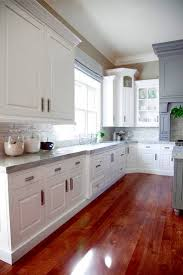 Shaker Style White Kitchen Cabinets by Kitchen White Cabinets Grey Countertops White Kitchen Wood