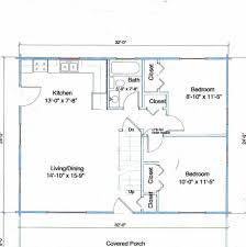 Small Cabins Floor Plans Small Cabin Home Plan With Open Living Floor Plan Rustic Cabin
