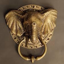 decorative door knockers this is elephant antique brass unique door knockers decorative