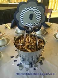 elephant themed baby shower peanut chevron navy blue grey