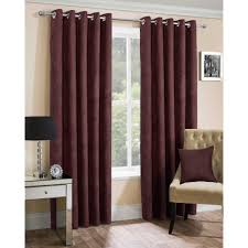 Chocolate Curtains Eyelet Curtains Ready Made Eyelet Faux Suede Chocolate Closs Hamblin