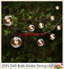 Outdoor Garland With Lights by Cheap Yon 25ft G40 Bulb Globe String Lights With Clear Bulbs