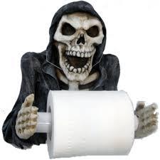 novelty toilet paper holder vampires kitchen nemesis now reapers revenge toilet paper holder