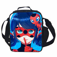 miraculous ladybug lunch bag thermal food picnic lunch bags for