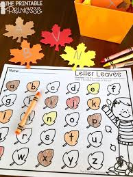 the printable princess easy fall centers for kindergarten plus
