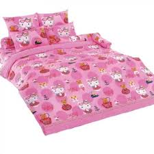 Hello Kitty Duvet Hello Kitty Bed Sheet Kt09 License Cartoon Bedsheet Lazada Singapore