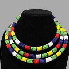 colored beaded necklace images Traditional colored beaded necklace jpg