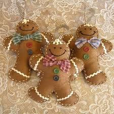 felt gingerbread ornaments felt