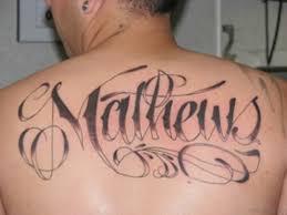 51 rare ambigram tattoos on back