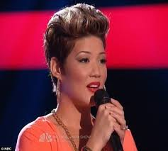 tessanne chin new hairstyle the voice 2013 adam levine begs tessanne chin to join his team