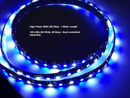 led light dual color blue white led light