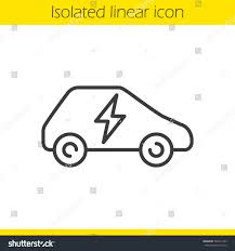 electric vehicles symbol electric car linear icon thin line stock vector 503311543