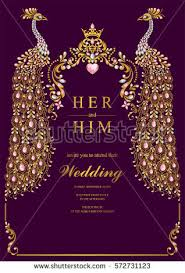 Wedding Invitation Card Format In Indian Wedding Invitation Card Templates With Gold Peacock
