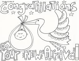baby shower coloring pages glum