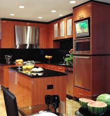 tv kitchen cabinet chicago concealed tv kitchen contemporary with island cabinetry