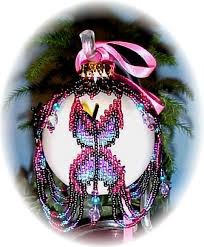 butterfly ornament cover beading patterns and kits by