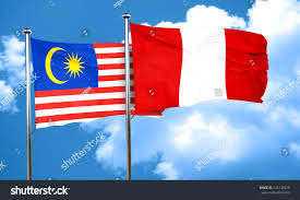Malaysai Flag Royalty Free Malaysia Flag With Peru Flag 3d U2026 435149329 Stock