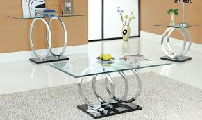 modern glass coffee table dining chairs aluminium railings ottoman