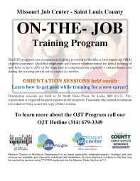 On The Job Training Resume by On The Job Training Program Orientation Training Resources
