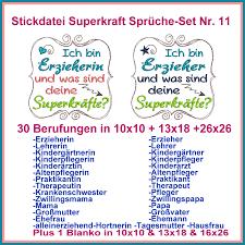 sprüche für erzieher stickdatei superkraft sprüche set nr 11 rock embroidery