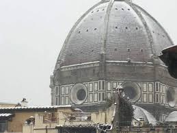 cupola di giotto neve chiusi al pubblico canile di giotto e cupola