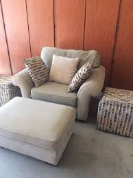 Oversized Accent Chair Alan White Oversized Accent Chair And Ottoman Furniture In