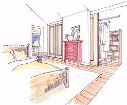 Schlafzimmer Mit Begehbarem Kleiderschrank Schiebestangen