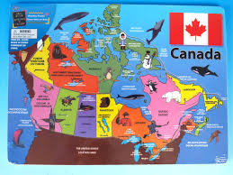 map if canada map of canada puzzle