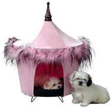 Pet Canopy Bed Large Beds Costco Posh Pink Pet Tent Canopy Bed For