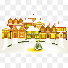 winter house christmas tree trees snow house png image for free