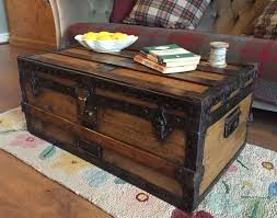 Decorative Trunks For Coffee Tables Endearing Wooden Trunk Coffee Table With Large Trunk Coffee Table