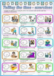 english exercises telling the time i