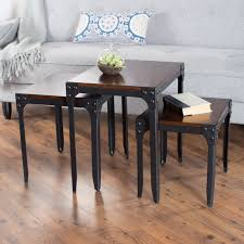 belham living trenton industrial nesting table set hayneedle