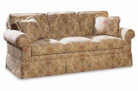traditional sofas with skirts sherrill traditional 3066 3 sofa with loose cushion back and round